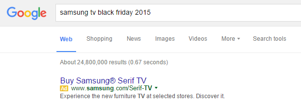 Advertise on Black Friday