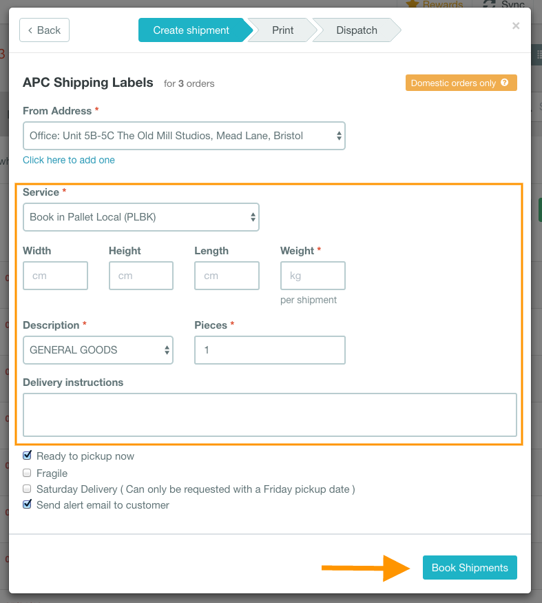 help how to print APC labels 3