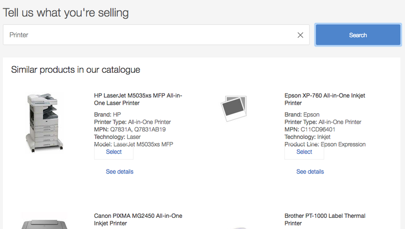 Matching your product to eBay's catalogue