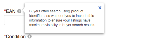 Adding product identifiers to eBay listings