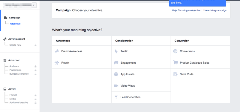 Setting up Facebook Ads