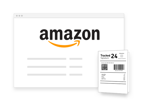 Amazon header dashboard