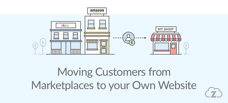 Moving customers from eBay and Amazon to ecommerce website