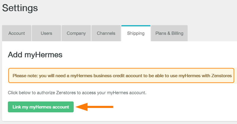 how to connect myhermes with zenstores 3