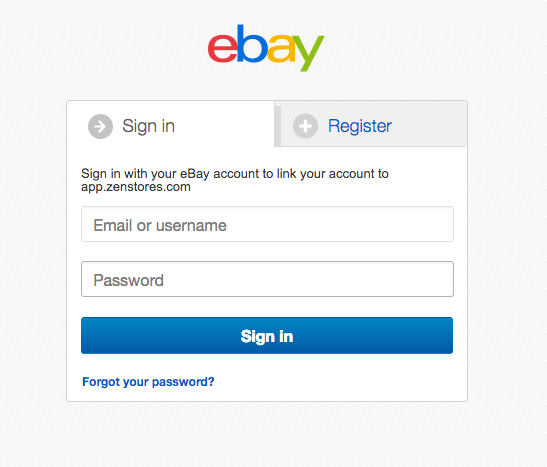 Connecting eBay to Zenstores 3