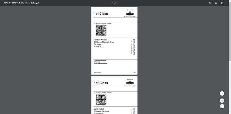 help royal mail barcode labels 5