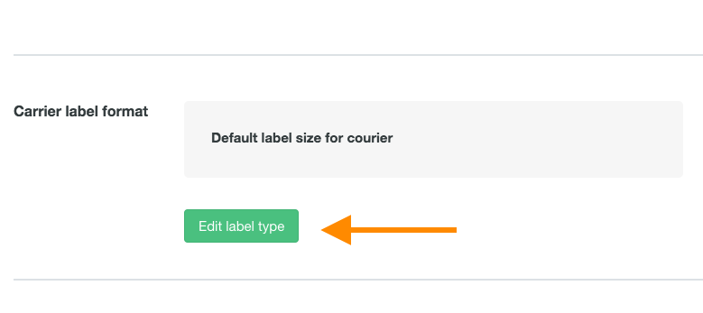 help courier label size 2