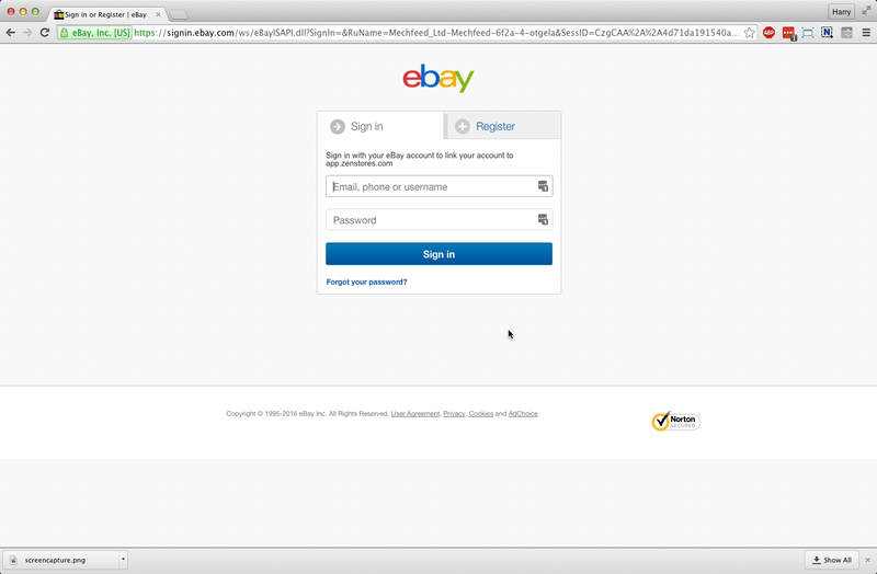 help how to connect ebay 3