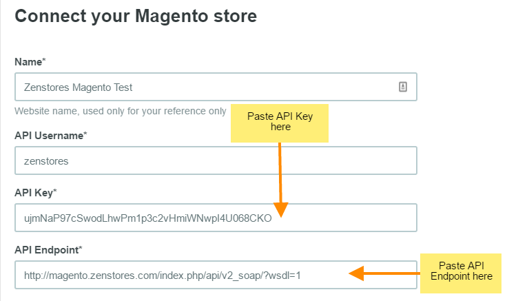 help how to connect magento 16