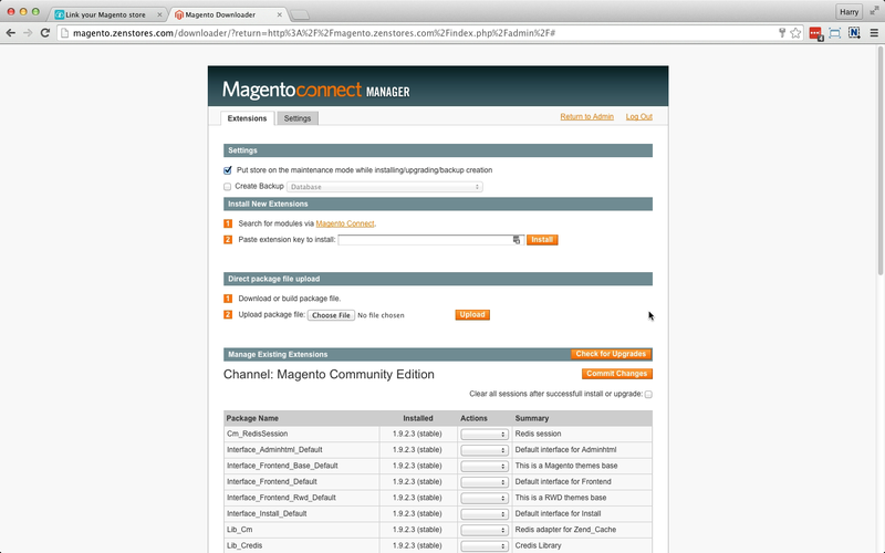 help how to connect magento 7