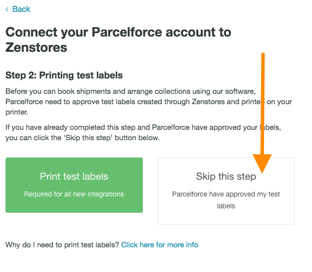 help how to connect parcelforce 7