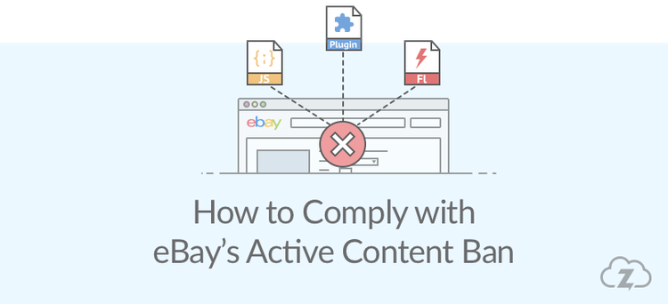 How to comply with eBay's active content ban