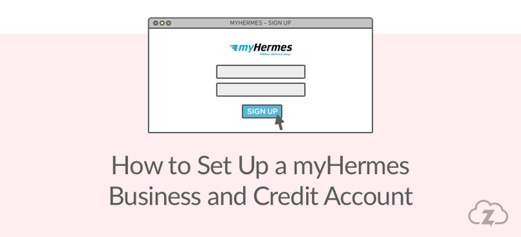 how to set up a myhermes business account