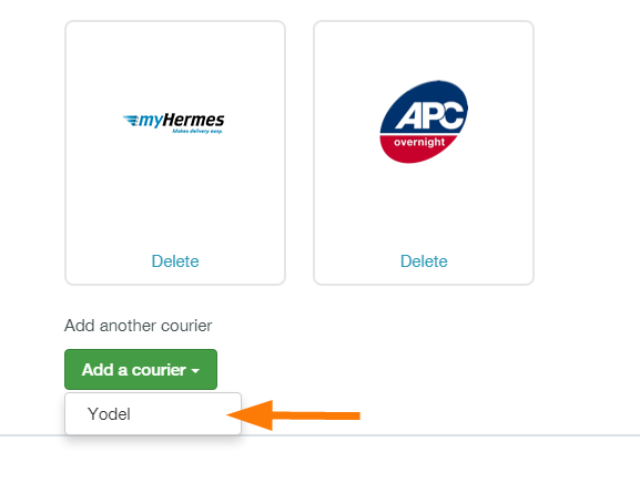How to connect Zenstores with Yodel 2