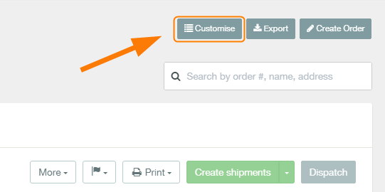 how to customise your order list 1