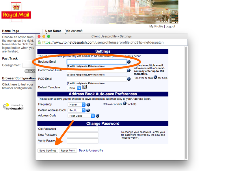NetDespatch disable booking confirmation emails 03