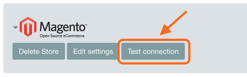 Magento - test connection