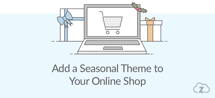 seasonal theme to your online shop