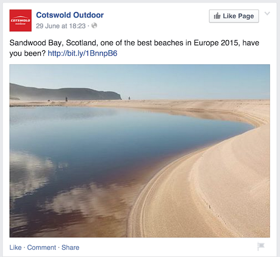 Facebook Example - Cotswold