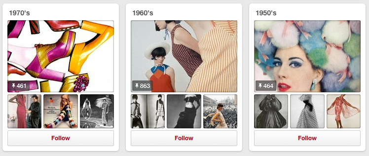 Pinterest board - eras